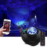 Galapara Star Projector Night Light, med fjärrkontroll romantisk projektionslampa 3 nivåer ljusstyrka och 10 ljuslägen stöder