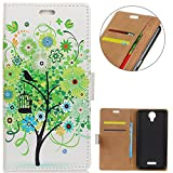 KM-WEN® Case for Wiko Jerry 2 (5 Inch) Book Style Green