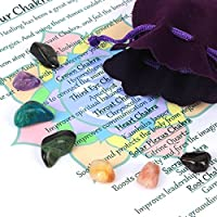 Set bestehend aus 7 verschiedenen Chakra-Heilungs-Kristallen, natürliche Trommelsteine inklusive Samtbeutel preisvergleich bei billige-tabletten.eu