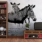Wandtattoos WandbilderMode Wohnzimmer Studie Sofa TV Hintergrund Wand Aufkleber Papier Idee Bar Einfache Zebra Wandaufkleber Malerei