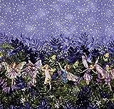 Michael Miller MM582 Stoff mit Blumenfeen-Motiv,