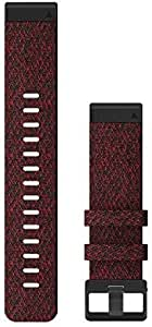Garmin QuickFit 22 Watch Bands - Heathered Red Nylon