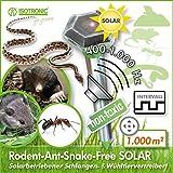 ISOTRONIC Ahuyentador ultrasonidos solar para topos campañoles hormigas serpientes