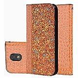 für Smartphone Samsung Galaxy J3 2017/ SM-J330F Hülle, Leder Tasche für Samsung Galaxy J3 2017/ SM-J330F Flip Cover Handyhülle Bookstyle mit Magnet Kartenfächer Standfunktion (3)