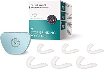 6 x dünn Custom Fit Profi Dental Guard Anti Zähneknirschen Schiene Schnarchen Zähne clenching Tabletts Bruxismus Schilde Bonus Montageanleitung & antibakteriell Fall