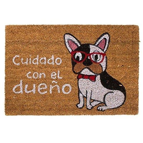 """Felpudo perro original """"Cuidado Con El dueño"""" 40X60 cm"""