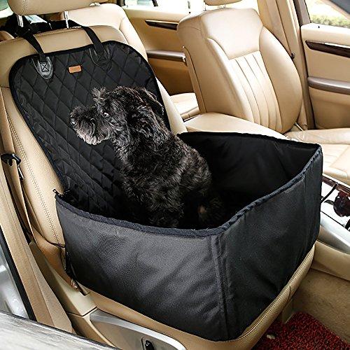 Haustier Hund Auto Sitzbezug Systond Wasserdichte Booster Sitzträger Protector 2 in 1 Deluxe Katze Vordersitz Fall Kissen mit Rutschfeste Unterstützung für Reisen Outdoor BoosterSeat02 (Carrier Deluxe Pet)
