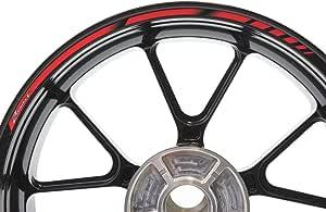 Impressiata Suzuki Bandit Motorrad Felgenrandaufkleber Specialgp Rot Komplettset Aufkleber Sticker Auto
