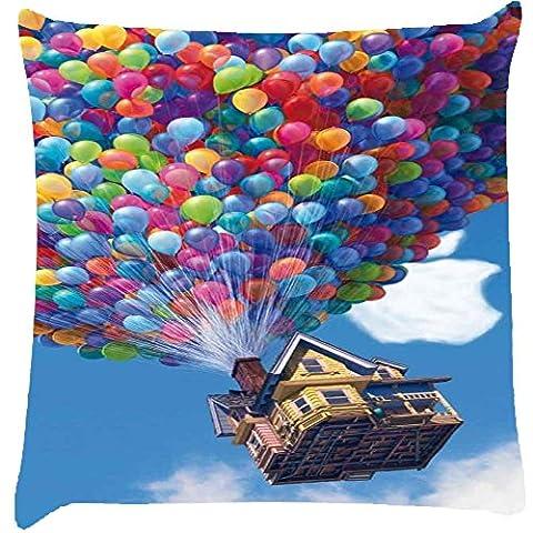 Ballon Haus Home Decor Werfen Sofa Auto Kissenbezug Kissen Fall 35,6x 35,6cm (Velvet Ballon-)