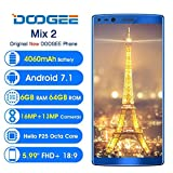 Doogee Mix 2 Bezel-less Smartphone | 6GB RAM | 64GB ROM | 5.99 Inch | Imported at amazon