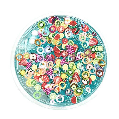 Kristall Schleim Candy Obst DIY Flauschige Schleim Duft Entlastung Charme Simulation Stressabbau Spielzeug für Kinder Erwachsene (100ml) ()