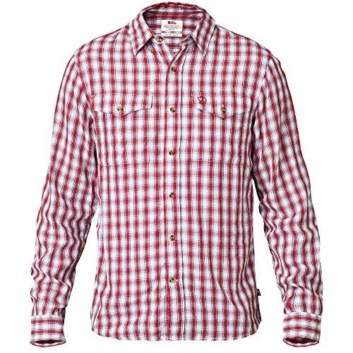 Fjällräven Herren Abisko Cool Hemd (langarm), Rot, XXL -