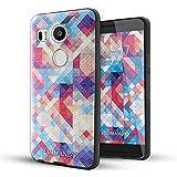Nexus 5x Funda,Lizimandu 3D Patrón Protectiva Carcasa de Silicona Gel TPU estrecha Case Cover Para nexus 5x(Colorful Estopa/Colorful Pizzle)