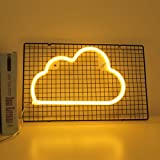 Cloud Neon Lights LED Cloud Signs Wall Light Room Decor Night Lights Battery and USB Operated Neon Lights Warm White Neon Sig