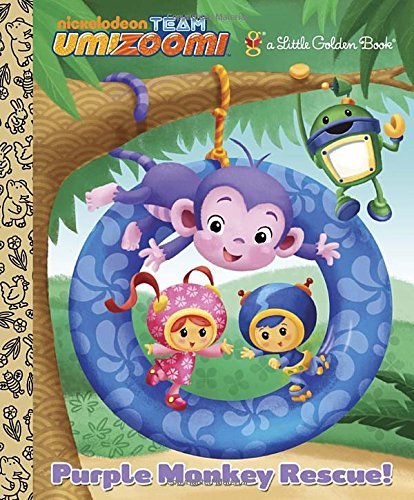 Purple Monkey Rescue! (Team Umizoomi) (Little Golden Books)