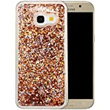 "Coque Samsung Galaxy A3 2017 Silicone Nnopbeclik® Paillettes Briller Style Backcover Doux Soft Transparente Housse pour Samsung Galaxy A3 2017 Coque Silicone (4.7 Pouce) Antichoc Protection Antiglisse Anti-Scratch Etui ""NOT FOR A3 2016/2015"" - [Or]"