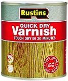 Rustins - Smalto ad asciugatura rapida per vernici lucide/opache/satinate, colore: Trasparente Clear Gloss 500ML