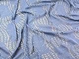 Crochet Effekt Spitze Kleid Stoff, blau, Meterware + Craft