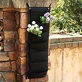 Cold Toy 7 Pocket Hanging Fence Garden Vertikale Blume Vege Herbs Wall Planter 100 x 29 cm