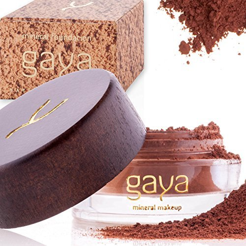Gaya Cosmetics Mineral Foundation Full Coverage – Professional Vegan Natural Make up Face Powder Foundation with Makeup Concealer For All Skin Types (MF8)