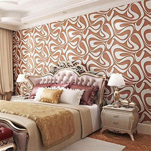 LQFLD 3D Prägetapete Deerskin Abstract Geometric Stripe Wallpaper Schlafzimmer Bedside TV Hintergrundbild 0.53m10m = 5.3㎡,a
