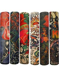 Autek Style de Lot 6 Pcs temporaire Faux Glissement tatouage manches bras Kit Collection (Tattoo-6pc)