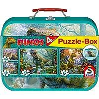 """Schmidt Spiele Puzzle 56495 - Puzzle-Box im Metallkoffer """"Dinos"""""""