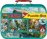 Schmidt Spiele Puzzle 56495 - Puzzle-Box im Metallkoffer Dinos