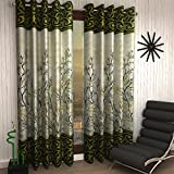 Home Sizzler 2 Piece Eyelet Polyester Door Curtain Set - 7ft