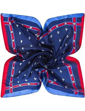 60x60cm abeja azul Mujer Multipurpose Silk-Satin Square Bufandas bufanda verano nuevo