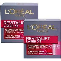 L'Oréal Paris Crema Viso Giorno Revitalift Laser X3, Azione AntiRughe Anti-Età con Acido Ialuronico e Pro-Xylane, 50 ml…