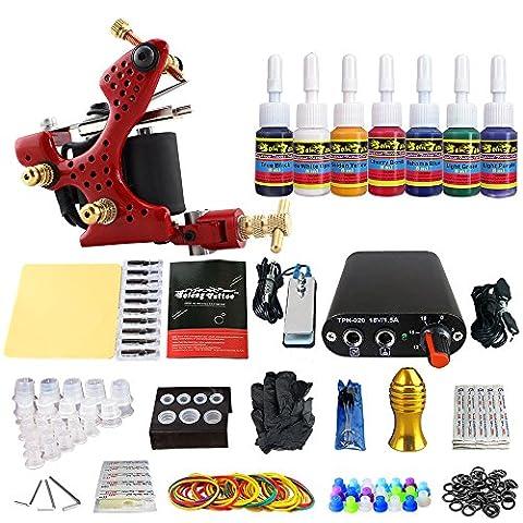 Solong Tattoo® Débutant 1 Pro Complete machine de tatouage Kit