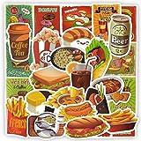 Sticker Pack Lebensmittel Aufkleber Kinderspielzeug Laptop Kühlschrank Aufkleber Burger Fries Bier Spielzeug Für Kinder Graffiti wasserdichte Aufkleber Pack 50 Teile/Los