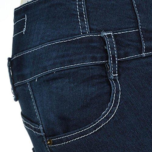 ADESHOP Femmes Taille Haute Skinny Denim Pantalon Collants Stretch Slim Fit Jeans Pantalons VêTements De Sport Et De Loisirs Slim Pantalon En Denim Stretch Bleu foncé