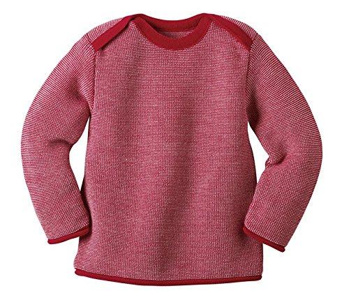 Disana 31303XX - Melange-Pullover Wolle rot, Size / Größe:62/68 (3-6 Monate)