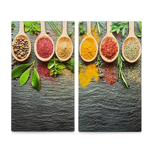 Zeller 26319 Herdabdeck-/Schneideplatten, Spices (Dekorative Platten Kraut)