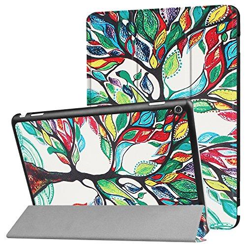 ELTD Huawei Mediapad M3 LITE 10 Hülle, Ultra Schlank Ständer Slim Leder zubehör Schutzhülle perfekt geeignet für Huawei Mediapad M3 LITE 10 Tablet PC, Muster-01