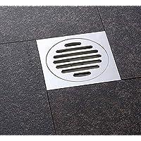 KHSKX Deodorante drain Servizi igienici moderni, tubi di scarico di strati di rame, scarico a parete pavimento quadrati