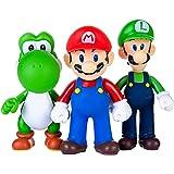 AINOLWAY 3 Pezzi / Set Super Mario Toys - Figurine Mario & Luigi - Yoshi & Mario Bros Action Figures Mario PVC Toy Figures