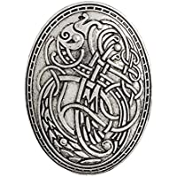 EEvER Aplicado Folk-Custom Viking Wolf Pattern broches botón Insignia para Ropa Camisas Chaquetas