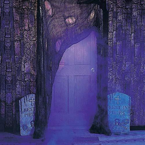 Schwarz Gruselige Tuch, Gruselige Halloween-Dekorationen, Halloween Spukhaus Party Dekoration Türöffnungen im Freien liefert, 315 '' X 79 '' - 8