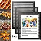 Tapis de Barbecue Set of 3, Tapis de Cuisson Barbecue antiadhésif, Doublure de tôles à Griller en téflon,...