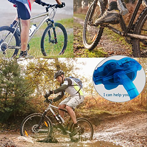 Fahrrad Kettenreinigungsgerät, Fahrrad Kettenreiniger | Kettenreinigung | Zahnkranz Cleaner | Bicycle Chain Cleaner, Schnelles sauberes Werkzeug für Alle Arten von Fahrrad Kettenreinigung (blau) - 7