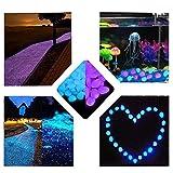 Haichen 200Glow in The Dark Steine Luminous Garten Kies Rocks für Durchgang, Yard DIY Aquarium Deko Kies Steine Blau & Violett