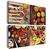 Bilder Küche 40x40 cm LEINWAND AUFGESPANNT AUF SPANNRAHMEN - VLIES