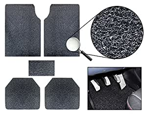 Vheelocityin 85906 Premium Black Noodle Car Foot Mat (Set of 5)