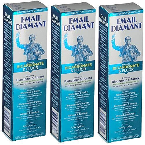 3 X EMAIL DIAMANT- DENTIFRICIO BICARBONATE&FLUOR 50ML