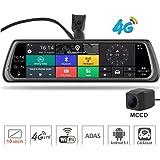 """4G Auto DVR Kamera 10""""Full Touch IPS Spezielle Android Spiegel GPS Bluetooth Wifi ADAS Auto Unterstützen Doppelobjektiv Dash Cam"""