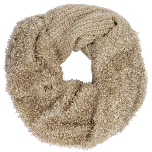 CASPAR - Écharpe tube pour femme - beige/noire - SC231