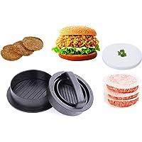 Killow Pressa per Hamburger Stampo per Hamburger Normale  Set 3 in 1  Burger Farcite eCucinaMini Burger   80 Fogli di Carta Antiadesiva  per BBQ  Cucina